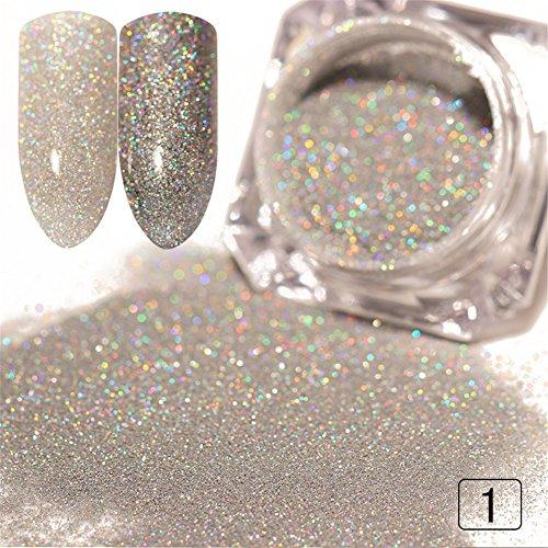 Born Pretty 1 Boîte Poudre Holographique Laser Laisse Ongles Brillant pour Nail Art #1