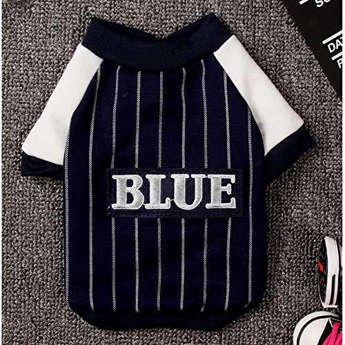 Kuailaidan Pet Baseball Suit Dog Fall Zweibeinige Baseball-Shirt VIP-Teddy Als Bär Hund Print Herbstkleid m das Schwarz