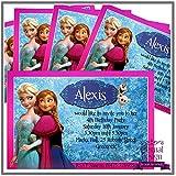 Eternal Design 5x inviti per festa di compleanno personalizzato. Frozen Anna & Elsa 6