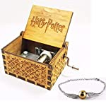 Harry Potter Classic Mini Wooden Music Box with Golden Snitch Hand Chain