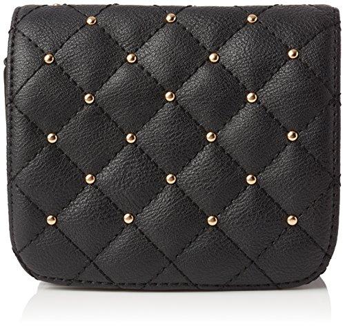 New look diamond quilt stud purse, cintura donna, nero (black), s/m
