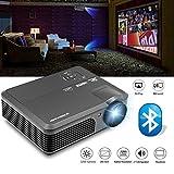 LCD Beamer HD 3200 Lumen Android 6.0 Heimkino Projektor Bluetooth Videoprojektor HDMI unterstützt 1080p für Unterhaltung PS4 Smartphone Laptop PC TV iPhone Xbox