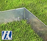HN Kernstützen Metallwaren Ecke für Rasenkante Metall 8x8x13,5cm 4er Set Beeteinfassung Wegbegrenzung