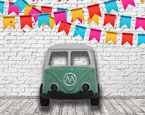 Photocall-Coche-de-juguete-Furgoneta-turquesa-eventos-o-celebraciones-Medidas-150-m-x-157-m-Fiestas-Celebraciones-Cartn-Microcanal