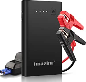 Car Jump Starter 600-800A Peak 8500mAh up to 5.0 L of Gas , 3.0 L Diesel Engines 12 V Super Safe Booster Power Jump Leads Type-C with Fast Charge USB