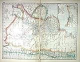 Stampa Antica del Video di Buenos Aires delle Ferrovie della Mappa C1920 Argentina Cile di Hammerton
