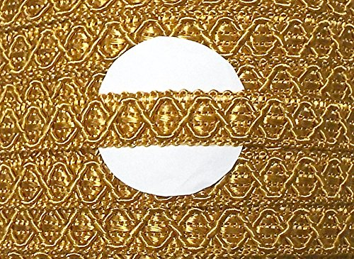 3 m Posamentenborte gold 12 mm