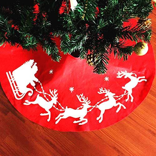 XONOR - Alfombrilla árbol Navidad Reno Papá Noel