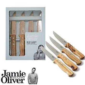 Jamie Oliver Jumbo Steak-Messer 4er-Set: Amazon.de: Küche & Haushalt