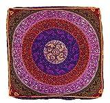 Sovereigns 32-in blau mit Mandala-Boden Kissen Pouf Hundebett Meditation Sitzkissen mit Hippie Indianer Boho