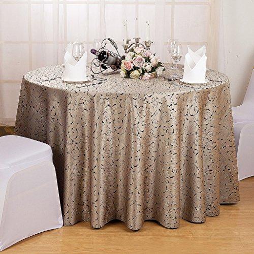 BSNOWF- Nappes Accueil de l'hôtel Toile de table ronde au café Activités Place Salon de l'exposition Banquet Nappe de mariage Taille de la fibre chimique en option ( Couleur : B , taille : Round-200cm )