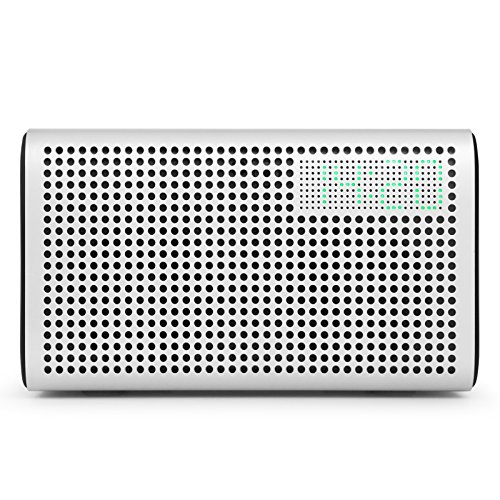 GGMM E3 Multiroom Lautsprecher Wi-Fi/Bluetooth, Airplay 20W Stereo Sound, LED Uhr/Wecker - Weiß