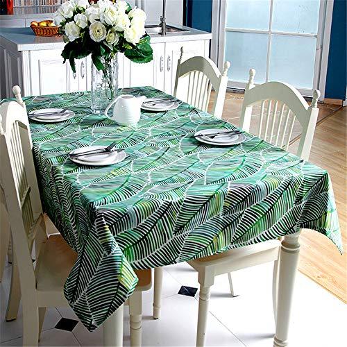 SONGHJ Verdicken Sie Baumwolle Tischdecke Tropical Rainforest Banana Leaf Bambus Blätter Cover Tischdecke für Hochzeit Tea Table A 90x90cm (Braunes Table Papier Cover)