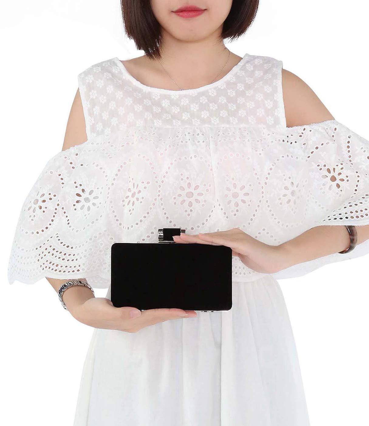 61%2BxAFVPIvL - BAIGIO Bolsa de Noche Mujer Elegante Bolso de Mano Bolso Clutch de Embrague Monedero de Terciopelo para Mujeres y…