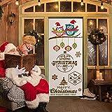 Doublelift Home Decor Weihnachten Element Weihnachtsdekoration Wohnzimmer Badezimmer Küche Weihnachtsstraßenschild Tür Abdeckung Feiertags Abdeckungs-Dekoration 30 Zoll × 6.5 Feet