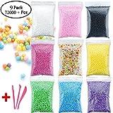 Kinxor Schaumstoff Perlen für DIY slime- bunten Styropor Kugeln Perlen Mini 0,2–0,4 cm für Kinder Homemade schlamm, Home Dekorative Kugel, Arts Crafts Dekorationen