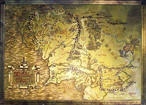 Dufex prints the best Amazon price in SaveMoneyes – Best Middle Earth Map
