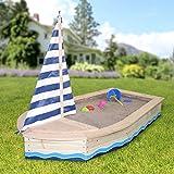 Sandkasten Bootsform, natur