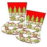10 Geschenktüten * WEIHNACHTSSOCKEN * // CONO // Weihnachten Advent Kinder Mitgebsel Weihnachtstüten Tüten Geschenke Weihnachtsmann Stiefel Adventskalender