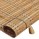 WUFENG Bambus Rollo Schattierung Schatten Isolierung Chinesisch-japanischer Stil Abgeschnitten Teehaus Wohnzimmer Rolltor Umweltschutz Geschmacklos Türvorhang (Farbe : B, größe : 100x200cm)