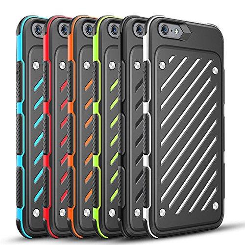 iPhone 6Plus / 6S Plus (5,5-Zoll) Hülle, [Schwert Serie] 2 in 1 Collision Farben Double Layer Stoß- Voller Schutz bunte Handy Hülle Abdeckung (iphone 6Plus/6s Plus, Orange) Red