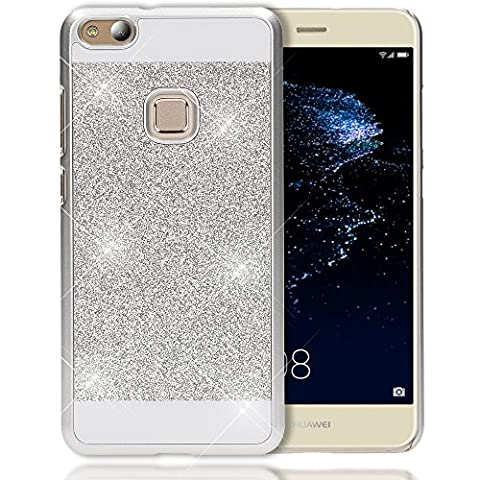 Huawei P10 Lite Hard-Case by NICA, Sparkly Mobile Phone Back-Cover Ultra-Thin Skin Protector, Sparkle Glitter Shock-Proof Bumper Slim-Fit Protective Bling Backcase for P10-Lite,