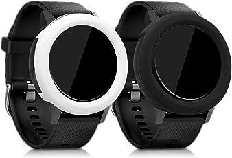 kwmobile 2in1: 2x Protezione per braccialetto per il fitness per Garmin Vivoactive 3 Dimensioni interiori: approssimative - Cover in silicone per sport watch senza tracker colore a scelta