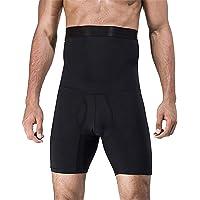 NOVECASA Dimagrante Pantaloncini Uomo con Vita Alta Elastico Shaperwear a Compressione Capris Controllo della Pancia…