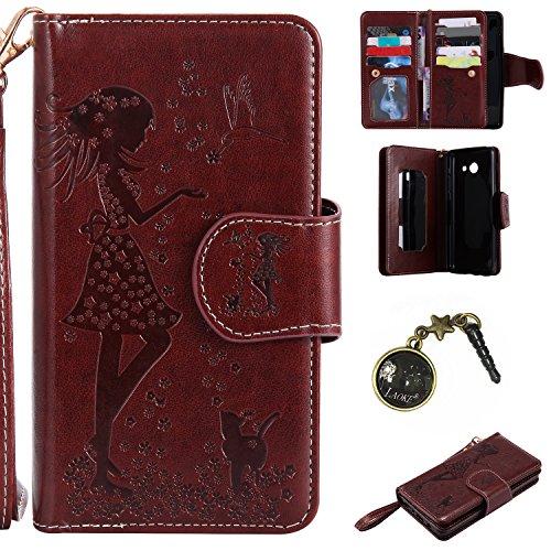 Preisvergleich Produktbild PU Abdeckungs-Fall Smartphone Samsung Galaxy J52017PU-Mappe Kasten Schutzhülle Geldbörse , Kreditkartenschlitz (Schlitz 9), Silikon Schutzhülle Handyhülle Painted zum Schutz + Staubkappe (4)
