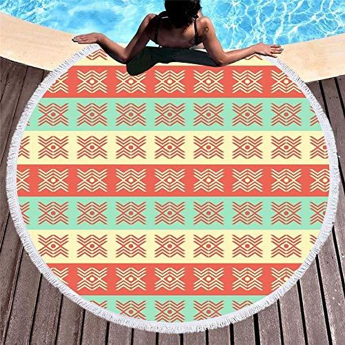 Flamingo, der runde Mikrofaser-Tuch-Badewanne mit Fransen Malt, verlässt Sommer-Serviette ()