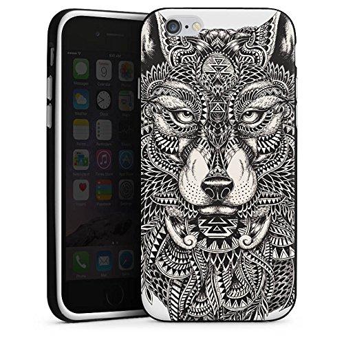 Apple Iphone 5s Hülle Case Handyhülle Mandala Wolf Hund Silikon Case