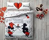 Set di biancheria da letto con scritte 'Minnie', 'Mickey' e 'Perfect Match', con...