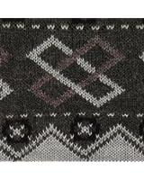 Men's Patterned V Neck Pullover Sweater - Brown