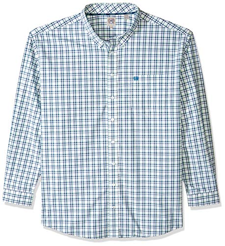 Cinch Herren Classic Fit Shirt Hemd, Plaid White and Spray, 3X-Groß -
