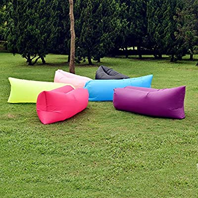 Yazer Outdoor Inflatable Lounger, Nylon Fabric Beach Lounger Convenient Compression Air Bag Hangout Bean Bag Portable Dream Chair Beach Sofa