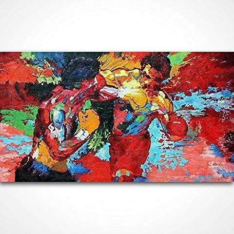 peint à la main Leroy Neiman (Homonymie) Rocky VS Apollo