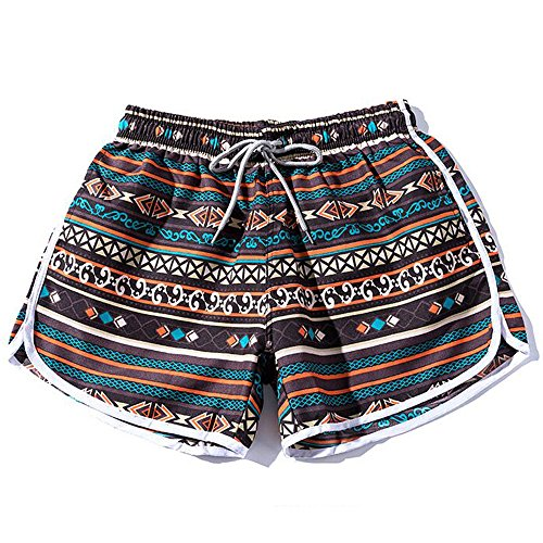 ABsoar Leggings Damen Laufende Hosen,ABsoar Heiß ! Frauen heiße Sommer Casual bedruckte Quaste kurze Kurzer Mini Heiß Shorts Strand Hosen Hohe Taille Frauen Hot Pants (M, Braun)