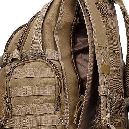 Imagen de yakeda® alpinismo al aire libre los hombres y las mujeres del bolso del bolso de camuflaje bolsa de hombro de gran capacidad bolso  táctica impermeable al aire libre  militares 60l  a88042 color barro  alternativa
