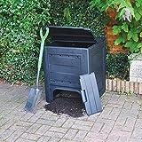 Garden Mile große schwarze 260L Garten Mülleimer Komposter umweltfreundlich Recycling Garten Blätter Abfall Entsorgung Müll Kompost Kiste