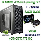 Intel i74790K, MSI gd65Gaming Home/Desktop PC, 32GB de RAM, 480Gb, SSD, 4GB Nvidia GTX...