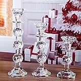 H & D Kristall Leuchter, Set of 3Glas Taper Kerzenhalter Classic Decor für Hochzeit Party Geschenke Bulk kaufen Spa Aromatherapie