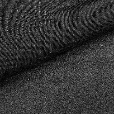 Tissu Molleton Sweat uni Noir - Par 50 cm