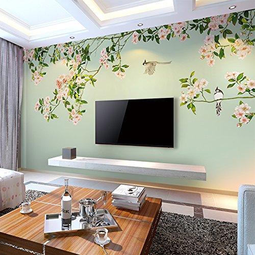 HUANGYAHUI Fiori di moda, sfondo, murales, soggiorno, televisione ...
