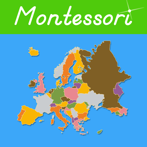 Map Of Uk In Europe.Europe A Montessori Approach To Geography With Puzzle Maps Amazon