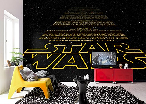 komar-star-wars-intro-ouverture-crawl-papier-peint-en-vinyle-jaune-noir-lot-de-8