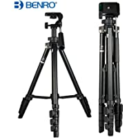 Benro T560 56.5 Inch Digital SLR Camera Aluminium Travel Portable Tripod with Carry Bag