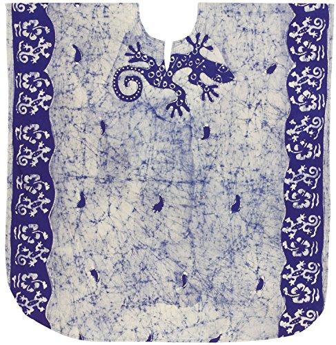 LA LEELA Frauen Damen Baumwolle Kaftan Tunika Batik Kimono freie Größe kurz Midi Party Kleid für Loungewear Urlaub Nachtwäsche Strand jeden Tag Kleider Rosa_Y595 -