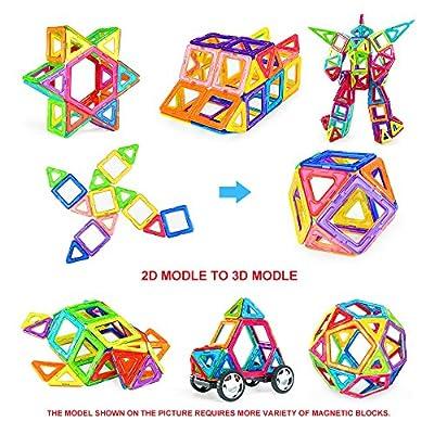 Bloques de construcción magnéticos, bloques de construcción magnéticos NextX 3D Bloques de construcción de 46 piezas Juego de inspiración de construcción estándar - Juguetes creativos para niños de NextX