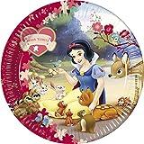 Amscan Disney Blancanieves - Paquete de 10 platos de cartón, 23 cm