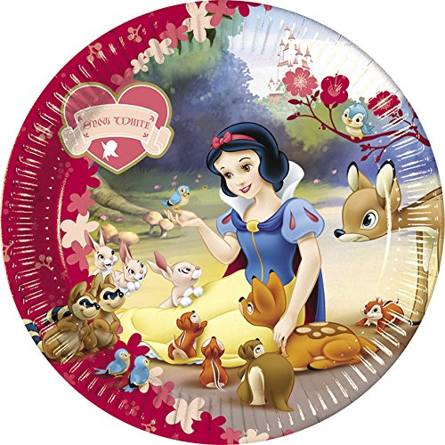 hite 23cm Teller (Snow White Party)